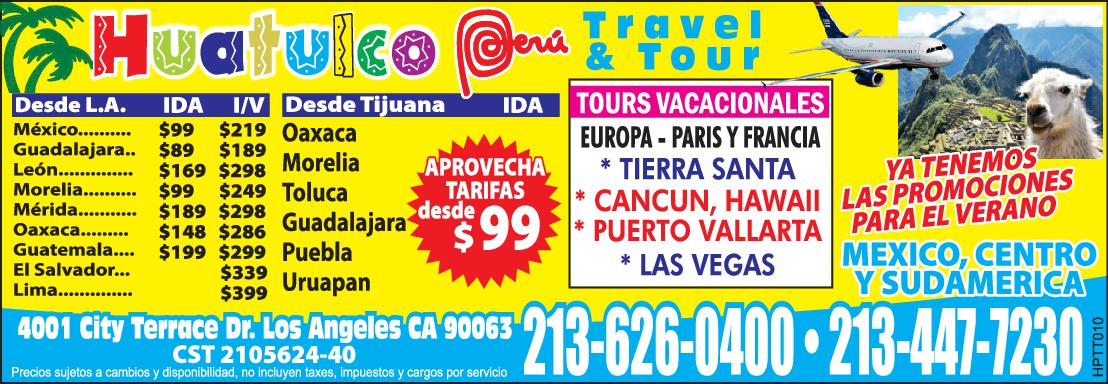 Huatulco Peru Travel & Tours