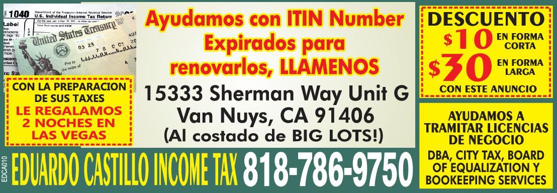 Eduardo Castillo Income Tax