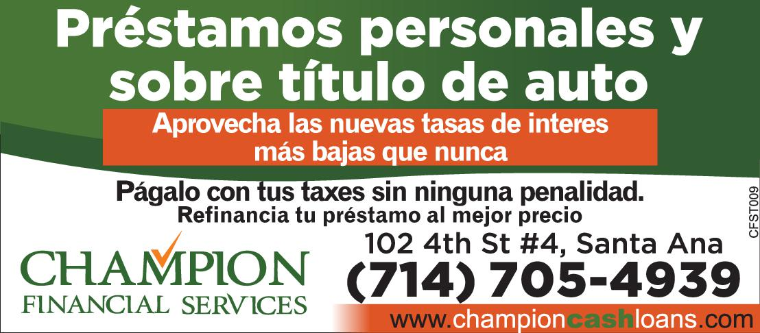 Champion Financial Services