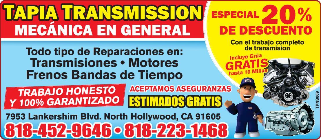 Tapia Transmission