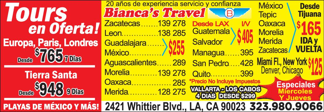 Biancas Travel & Services