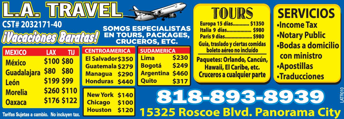 L.a. Travel & Tours