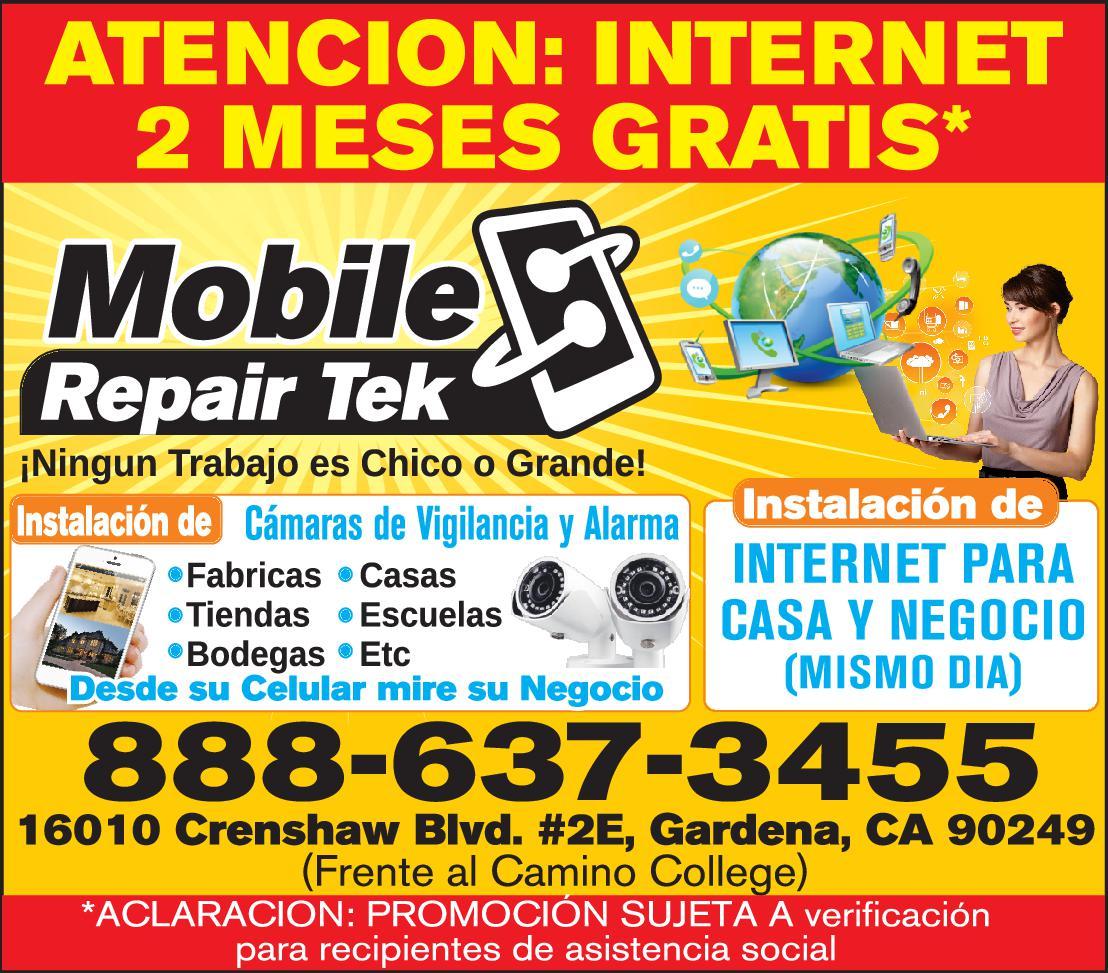 FREE Internet 3 Meses Gratis/ Mobile Repair Tek