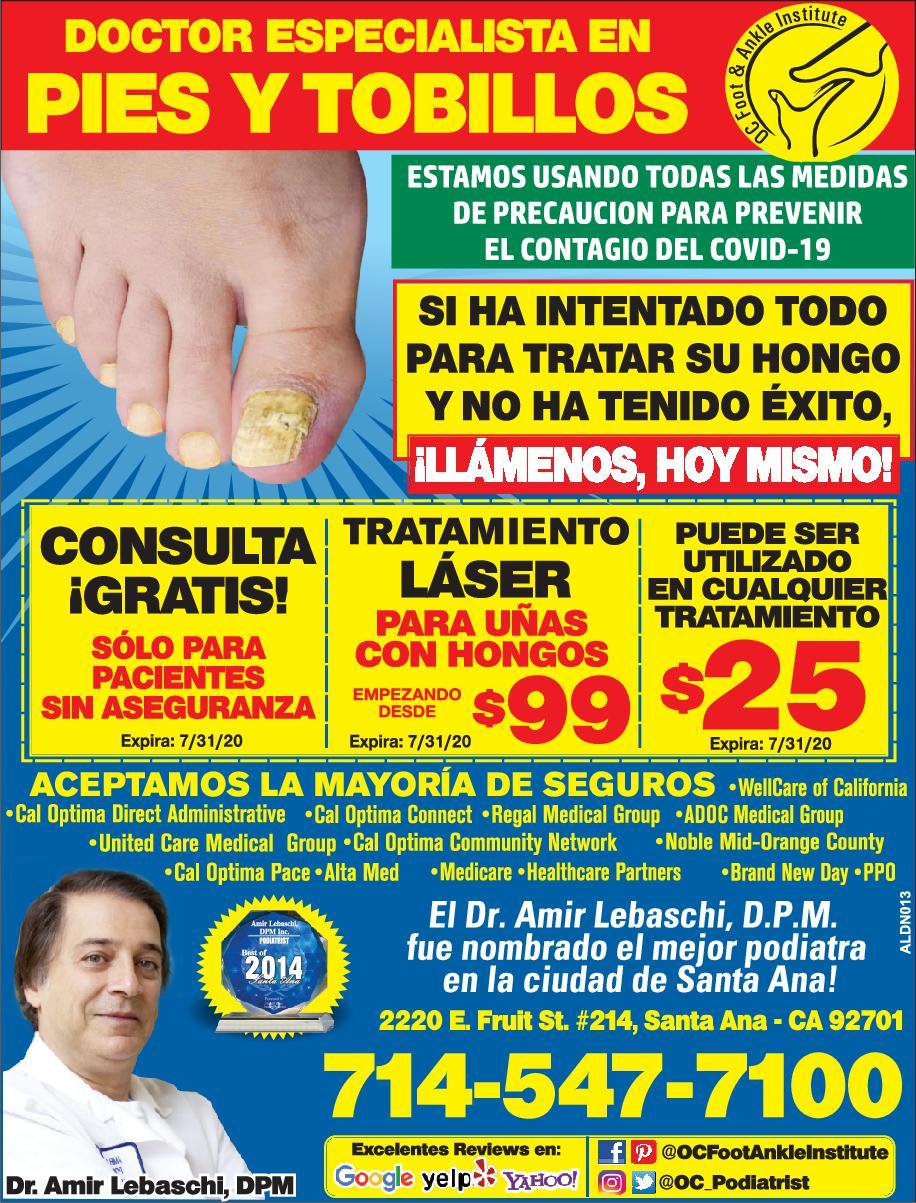 Oc Foot & Ankle Dr. Amir Lebascchi