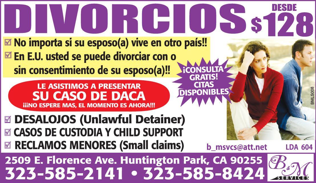 Divorcios Desde $128