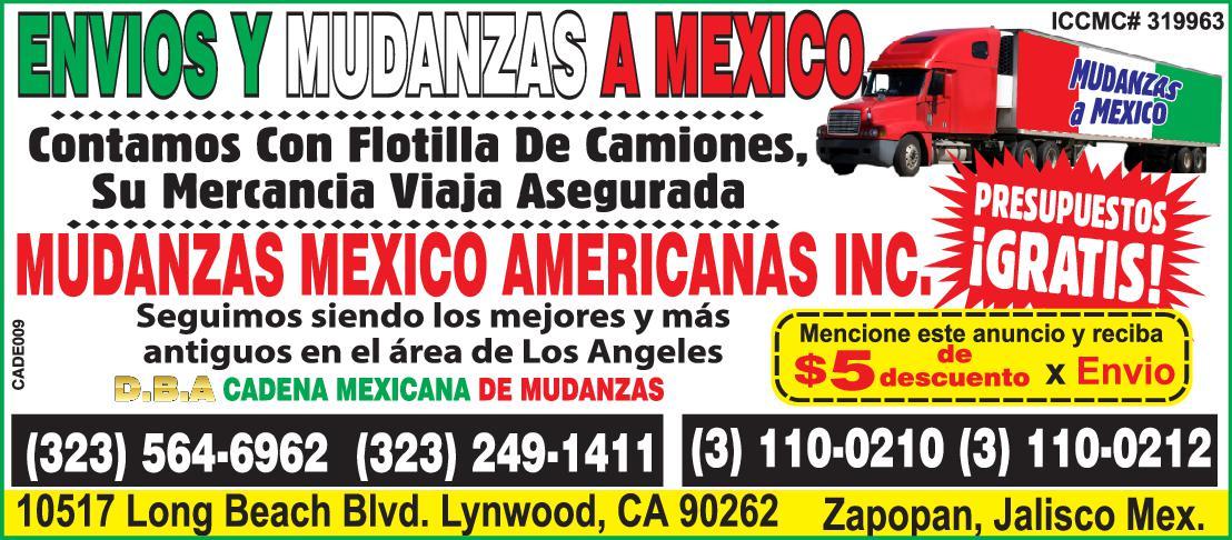 Mudanzas Mexico Americanas Inc.