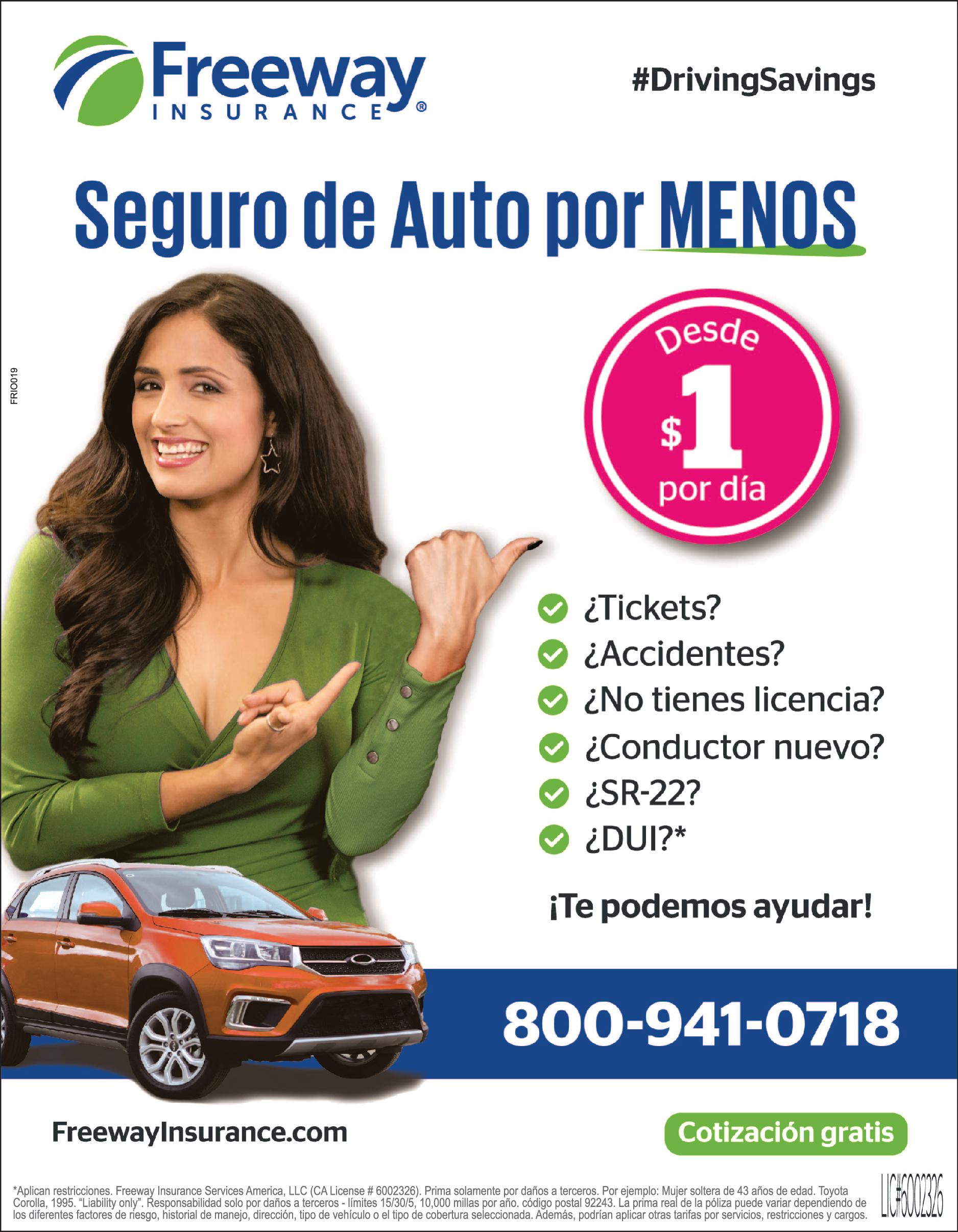 FREE WAY INSURANCE  INLAND EMPIRE