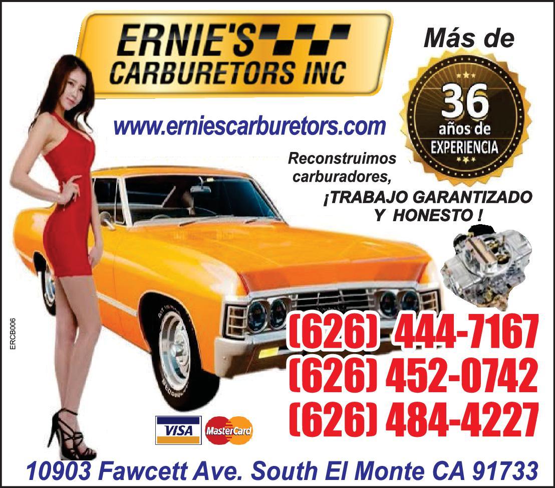 ERNIES CARBURATORS