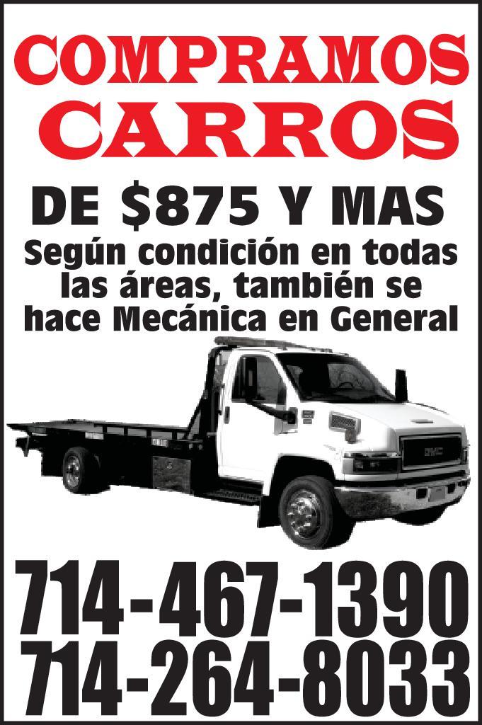COMPRAMOS CARROS